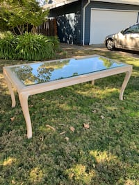 rectangular white and brown wooden table Rancho Cordova, 95670