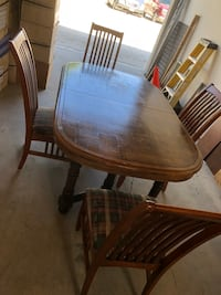 "Large heavy wood table & chairs 67""x42""x30"" Ventura, 93004"