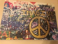 Imagine/PEACE abstract painting Falls Church, 22043