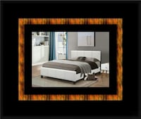 White platform bed with mattress and box all size Riverdale Park