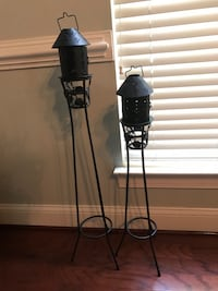 Tall black candle stand and holders Ashburn, 20148