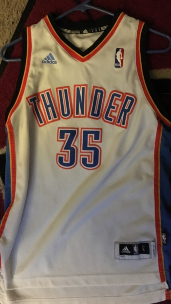 f4bded1d9 Used large size oklahoma city thunder nba adidas kevin durant jersey for  sale in Phoenix - letgo