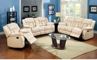 Barbados Ivory Sofa and Loveseat with 4 recliners  49 km