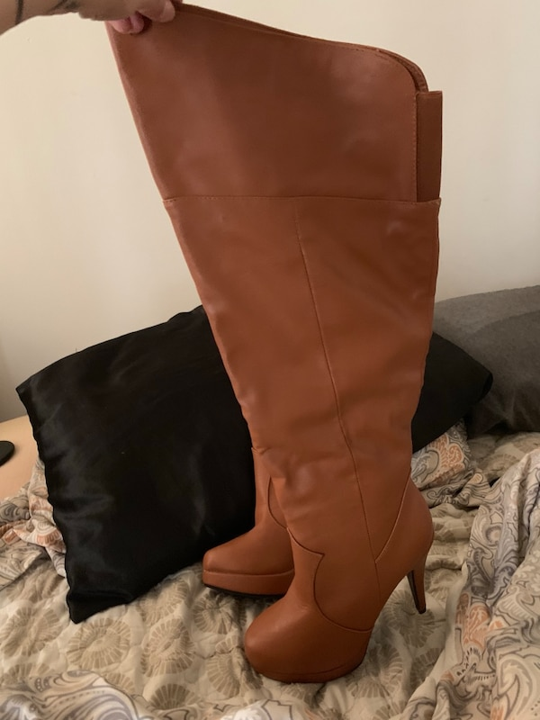 37586d96be8 BRAND NEW - NEVER WORN! JESSICA SIMPSON BROWN KNEE HIGH LEATHER BOOTS!!