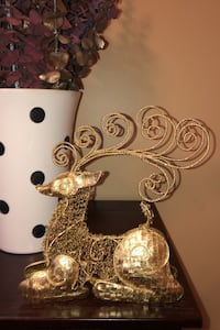 Christmas gold reindeer decor