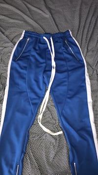 Blue and white adidas track pants Langley, V3A 8Z7