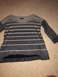 gray and black striped long-sleeved shirt Little River, 29566