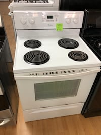 Whirlpool white electric coil range stove