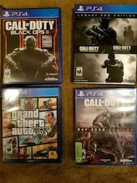 four assorted PS4 game cases Clarence-Rockland, K0A
