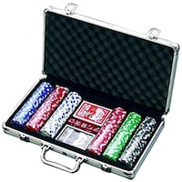Professional poker chips with cards, dice, case Toronto, M5G 1N8