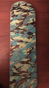 blue white and white camouflage skateboard deck