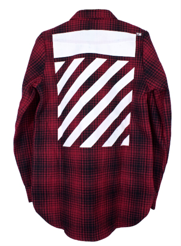 d1a9a42cd704 Used Off-white Red Black Tartan Diagonal Flannel Shirt for sale in Toronto  - letgo