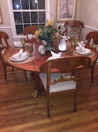 Dining table and chairs 596 mi