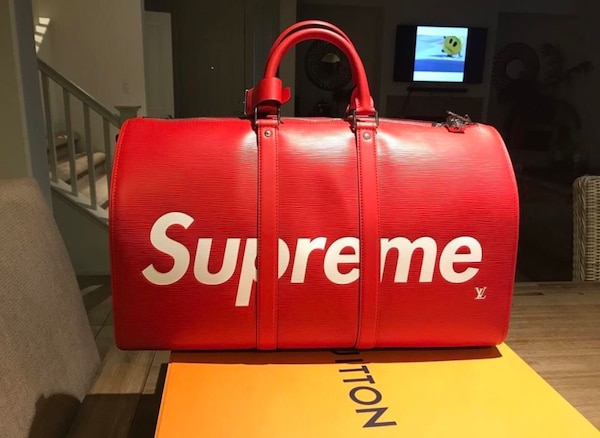 a29fdef7ce28 Used Louis vuitton  supreme duffle bag for sale in Moreno Valley - letgo