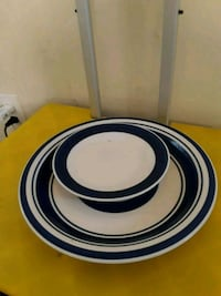 round white and blue ceramic plate Neptune City, 07753
