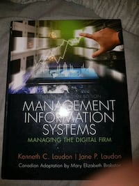 ITM 102 textbook- management information systems  Toronto, M6B 1N7