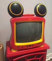 Disney Mickey Mouse CRT TV (Red and yellow)Non-negotiable Richmond Hill, L4E
