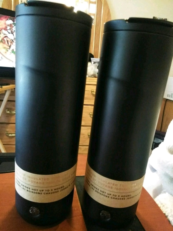 TWO BRAND NEW NEVER USED STARBUCKS 20 OZ TUMBLERS