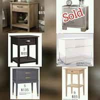 Nightstands - Delivery  Oshawa, L1J 6A8