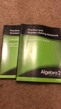 i have 2 algebra 2 common core practice and problem solving workbooks $5 each Tallahassee, 32309