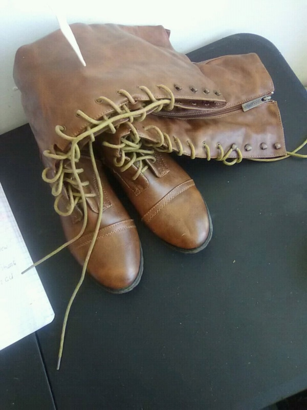 227e8e0b0 Used pair of brown leather work boots for sale in Atlanta - letgo
