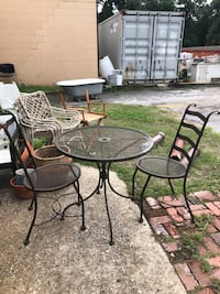 Outdoor table and chairs wrought iron Jacksonville, 32206