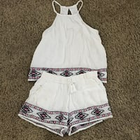 Abercrombie and Fitch cute, embroidered short and tank top Newport Beach, 92662