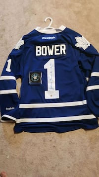 Autographed bower jersey and puck Wasaga Beach, L9Z 3A5
