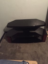 Black 3-tier tv stand West Valley City, 84119