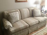 Brown and white fabric 3 seat sofa with chair $175 new Mississauga, L5V