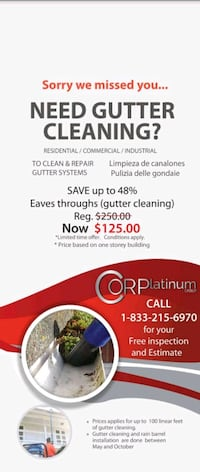 EAVES/GUTTER CLEANING Toronto
