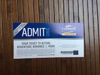1 General Admission Ticket to landmark cinemas a total of 8 6$ each Mission, V4S