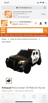 Selling brand new condition kids ride on police car Toronto, M1G 1R9