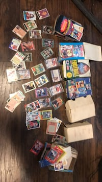 Baseball and football card collection