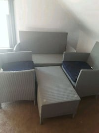 Patio set. Table also has a glass top