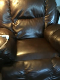 black leather sofa chair Stephens City, 22655