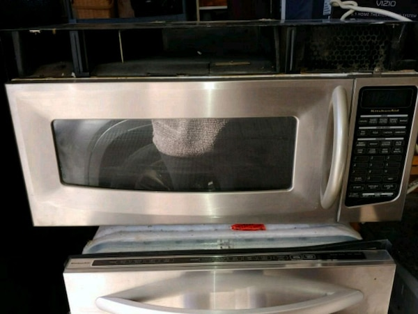 Kitchen Aid microwave stainless steal