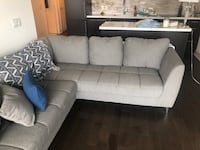 Brand new couch, not even a year old maybe sat on twice. Moving must sell, perfect condition/cushions included Paid $1800 Markham, L6E