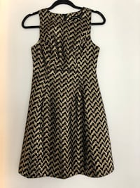 Ark&Co. fit and flare dress in gold, EU size M