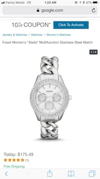 Fossil women's watch Woodbridge, 22191