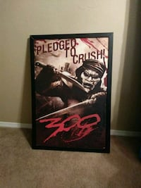black wood-framed 300 poster Kansas City, 64117
