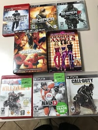 Three assorted sony ps3 game cases