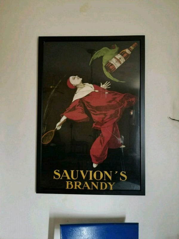 Large Sauvion's Brandy Picture & Frame 0