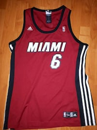 red and white Adidas Miami Heat basketball jersey Surrey, V3R