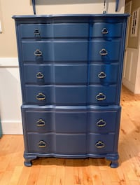 John Widdicomb French Provincial Navy Blue Tall Chest on Chest Dresser Toms River, 08753