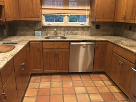 Full set solid wood kitchen cabinets