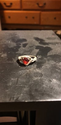 silver-colored ring with red gemstone Santa Fe, 87507