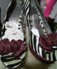 grey and black leather zebra print open-toe heels Winchester, 22602