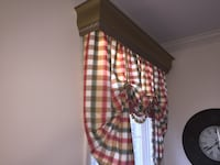 Red, yellow, and green checkered window curtain Ashburn, 20147