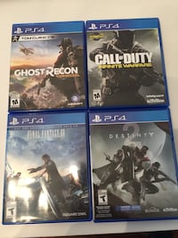 Four assorted ps4 games excellent condition Richmond, V6X